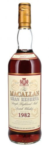 1982 Macallan Single Malt Scotch Whisky 18 Year Old, Gran Reserva 750ml
