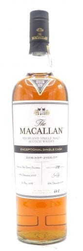 2005 Macallan Scotch Whisky Exceptional Single Cask 21156/07 750ml