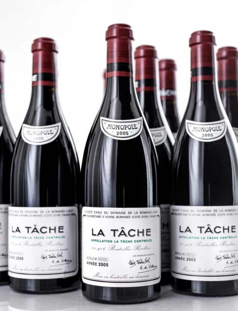 Lot 1014: 12 bottles 2005 DRC La Tache