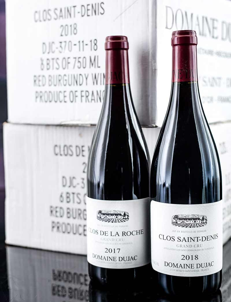 Lot 1008, 1014: 12 bottles 2017 Dujac Clos de la Roche and 6 of 2018 Clos St. Denis in OCBs