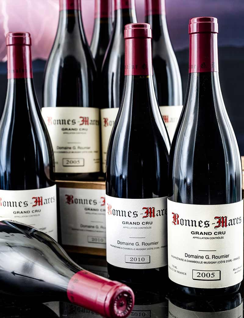 Lot 1028, 1029: 6 bottles each 2005 and 2010 G. Roumier Bonnes Mares