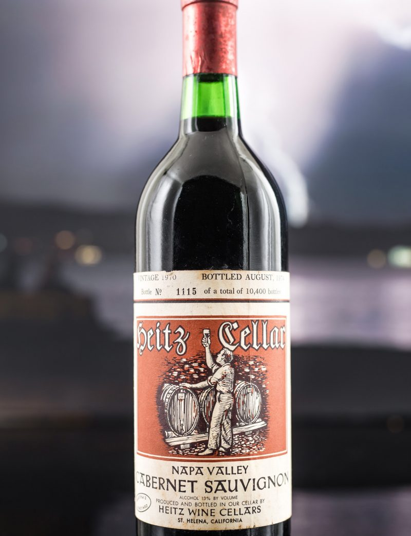 Lot 150: 1 bottle 1970 Heitz Cellar Cabernet Sauvignon Martha's Vineyard